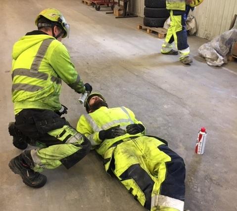 Stort engagemang när Hercules övade kemikalieolycka på pålfabriken i Västerås